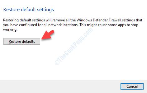 Restore Default Settings Restore Defaults