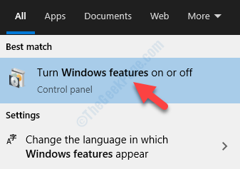 Result Turn Windows Features On Or Off Windows Features