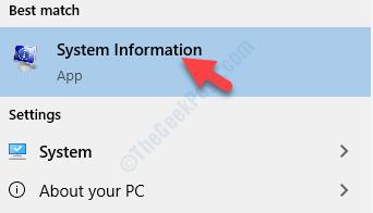 Result Left Click System Information