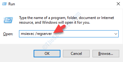 Run Command Search Type Command To Re Register Windows Installer Enter