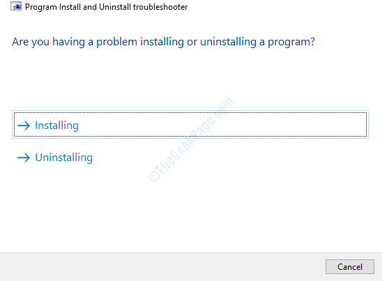 Select The Problem You Are Facing Installing