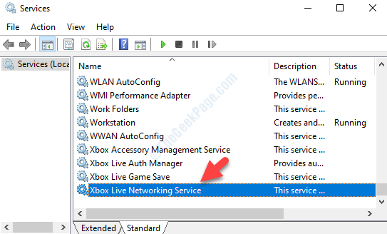 Services Name Xbox Live Networking Service