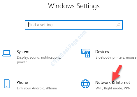 Settings Network & Internet