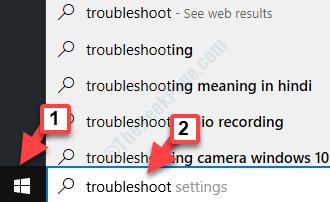 Start Windows Search Troubleshoot