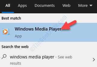 Result Click Windows Media Player