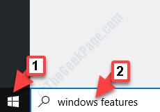Start Windows Search Windows Features