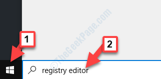 Start Search Registry Editor