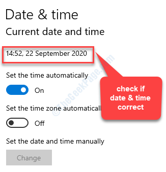 Time & Language Date & Time Check If Date And Time Set Correct