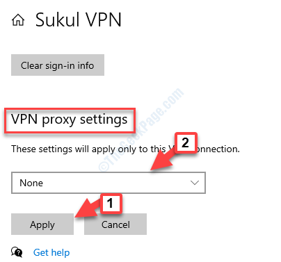 Vpn Proxy Settings Select None To Remove The Proxy Apply