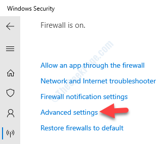 Windows Security Firewall & Network Protection Advanced Settings