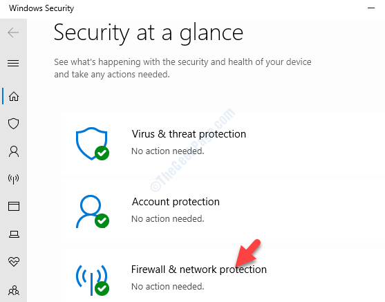 Windows Security Security At A Glance Firewall & Network Protection