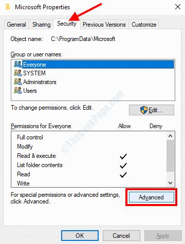 Advanced Security Microsoft