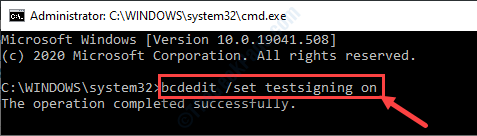 Bcdedit Testsigning On