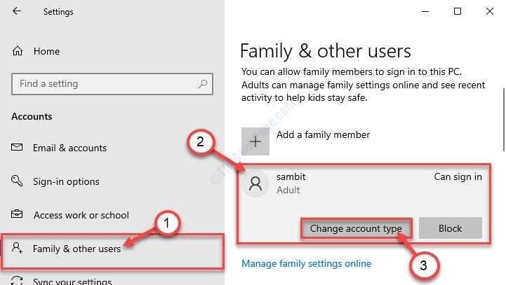 Change Account Type