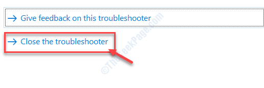 Close The Troubleshooter Universal