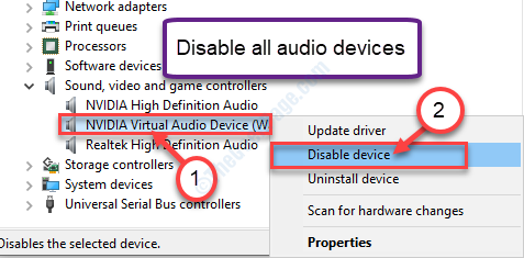 Disable Other Audio