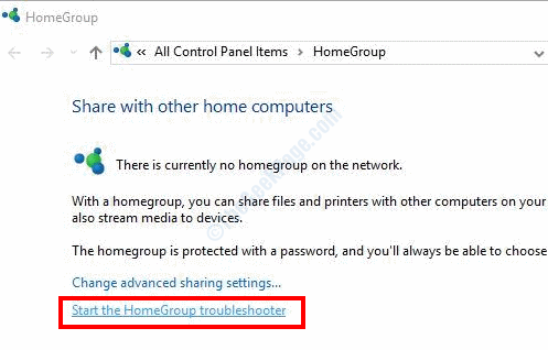 Homegroup Troubleshooter