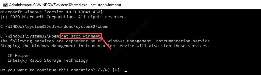 Net Stop Winmgmt