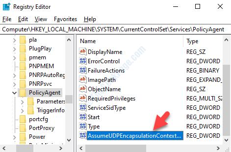 New Dword Value Rename Assumeudpencapsulationcontextonsendrule