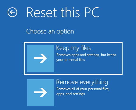 Reset Pc Keep Files Startup Repair