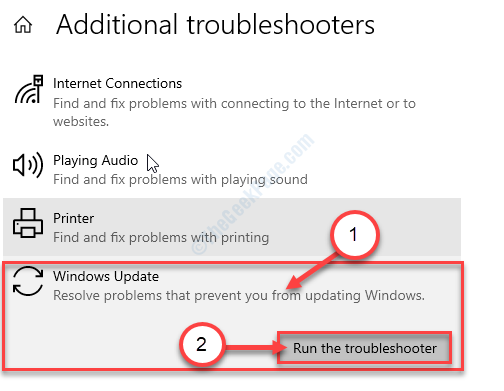 Run The Troubleshotoers Window Update