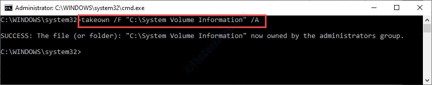 Takeown Sys Volume