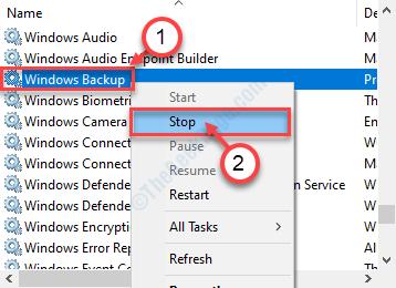 Windows Backup Stop