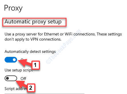 Automatic Proxy Setup Automatically Detect Settings Use Setup Script