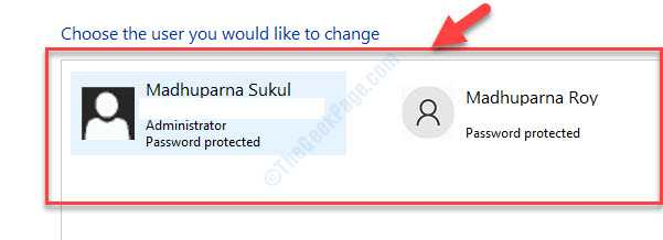 Choose The User You Would Like To Change