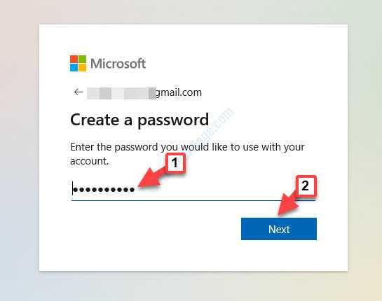 Create A Password Next