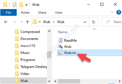 Destination Folder Wub.ini Open In Notepad