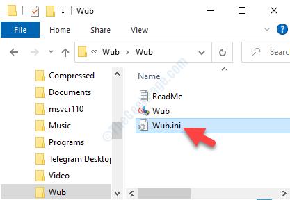 Destination Folder Wub.ini Open In Notepad