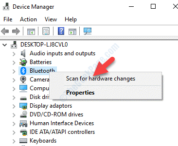 Device Manager Bluetooth Right Click Scan For Hardware Changes