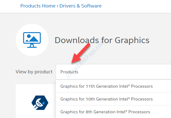 Download For Graphics View By Product Select Based On Intel Processor Generation
