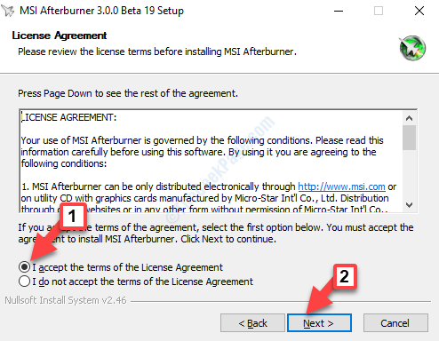License Agreement I Accept The Terms Of The License Agreement Check Next
