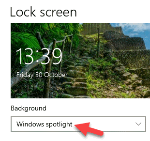 Lock Screen Background Windows Spotlight