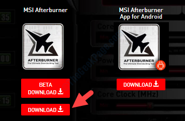 Msi Afterburner Official Link Scroll Down Download