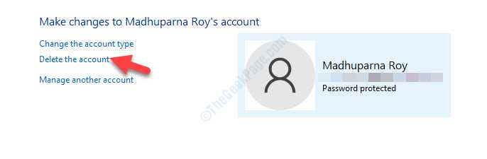 Make Changes To Account Delete The Account