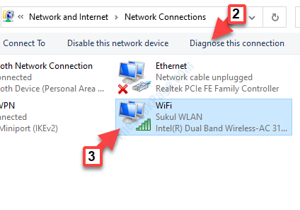 Network Connections Select Wifi Diagnose This Connection