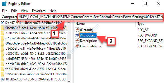 Registry Editor Navigate To Power Settings Path Attributes Double Click