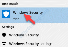 Result Left Click Windows Security