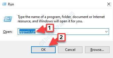 Run Command Search Appwiz.cpl Ok