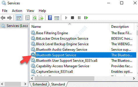Services Name Bluetooth Support Service