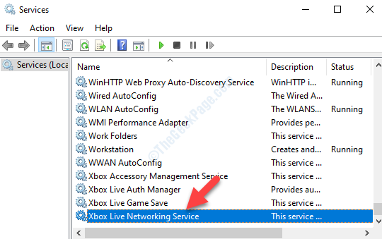Services Names Xbox Live Networking Service
