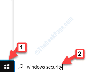 Start Windows Search Bar Windows Security