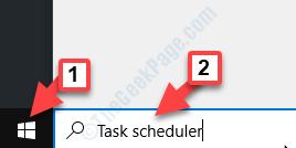 Start Search Task Scheduler