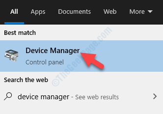Result left click Device Manager