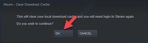 Steam Clear Download Cache Pop Up Ok