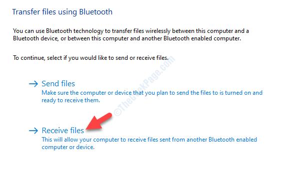 Transfer Files Using Bluetooth Receive Files