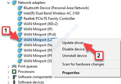 Wan Miniport (l2tp) Wan Miniport (network Monitor) Right Click Update Driver